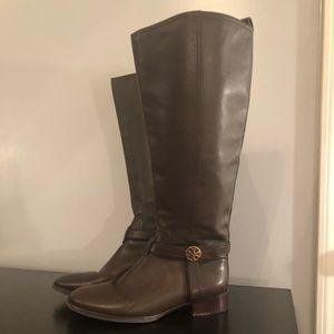 Dark brown Tory Burch Bristol leather boots, Sz 8